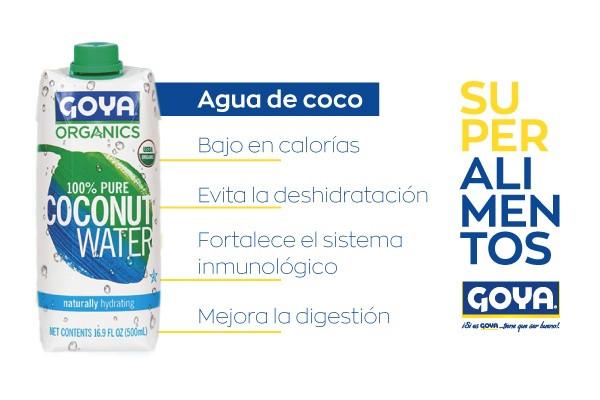 infografía agua de coco