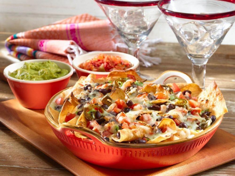nachos con frijoles