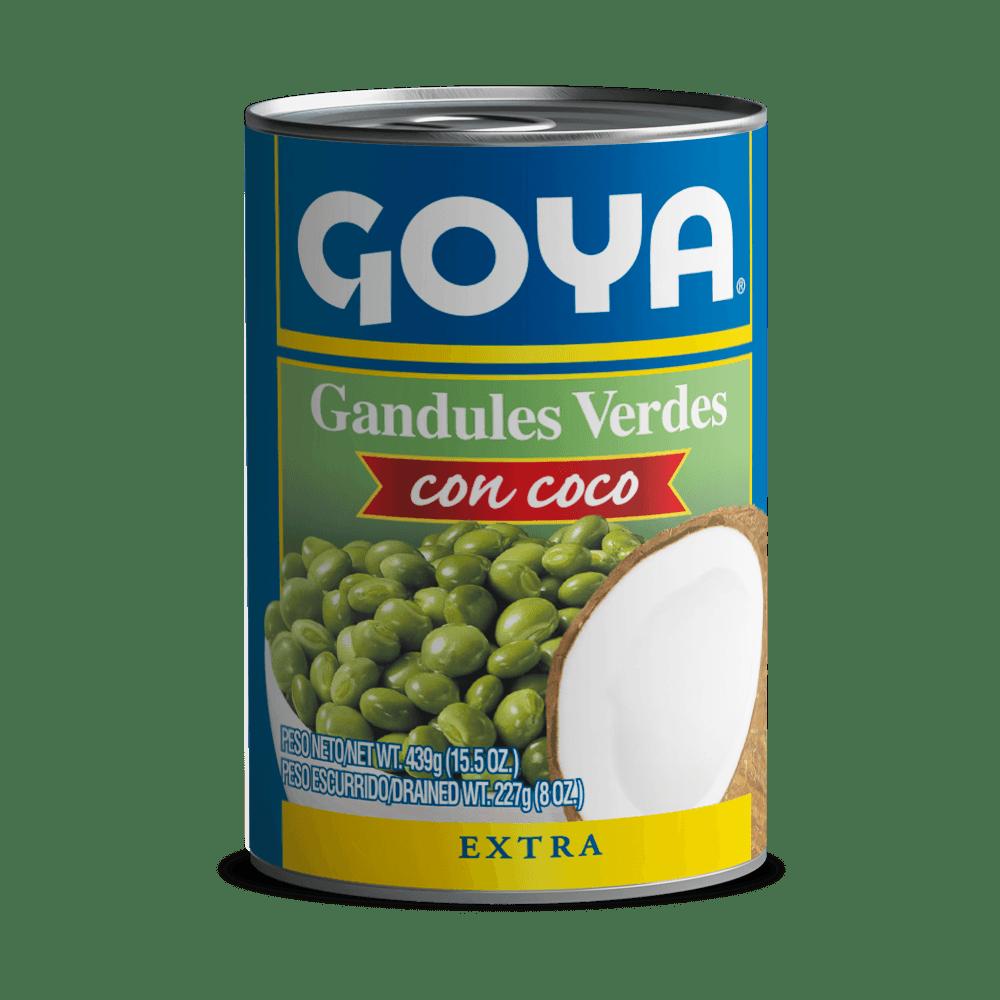 Gandules verdes con coco