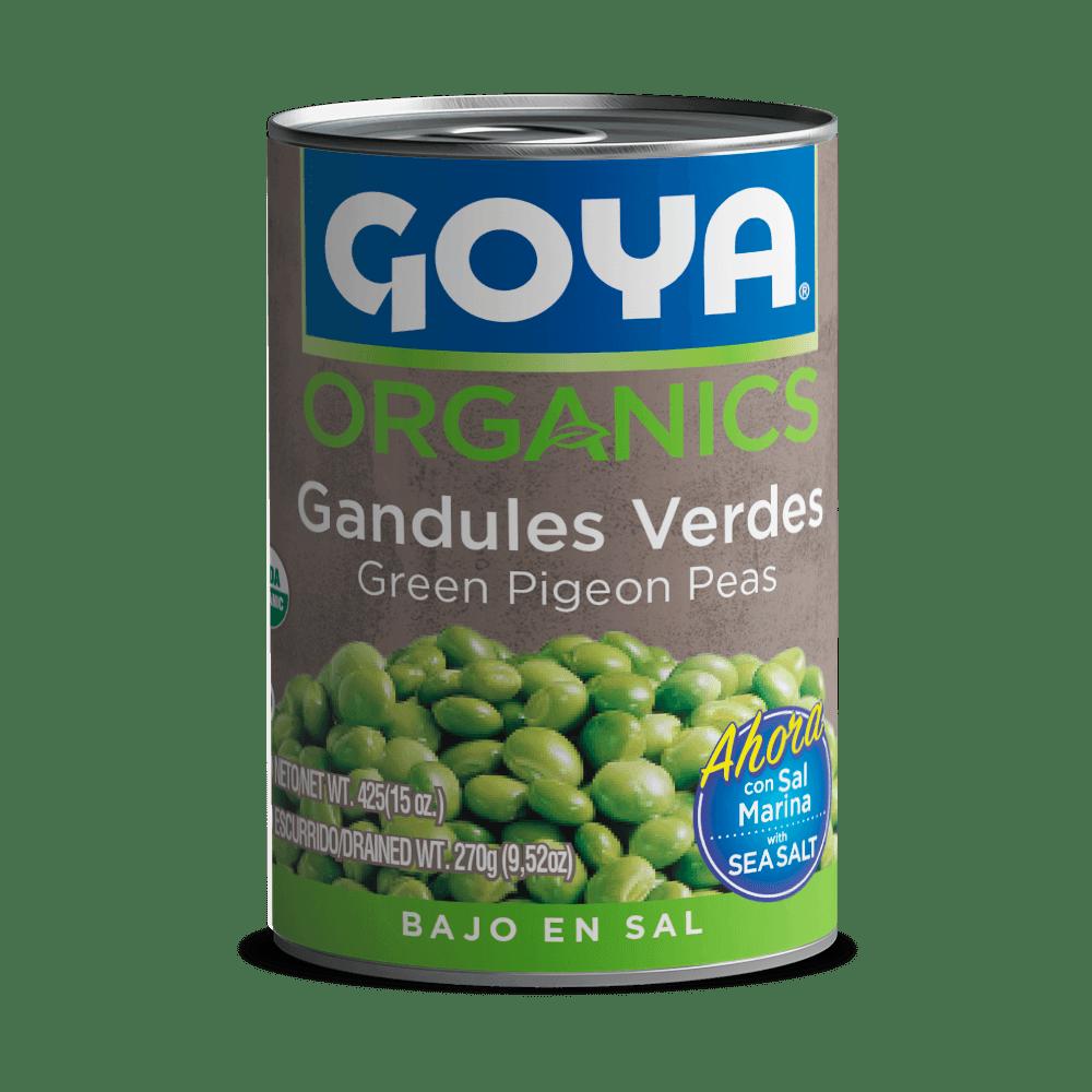 Gandules verdes orgánicos