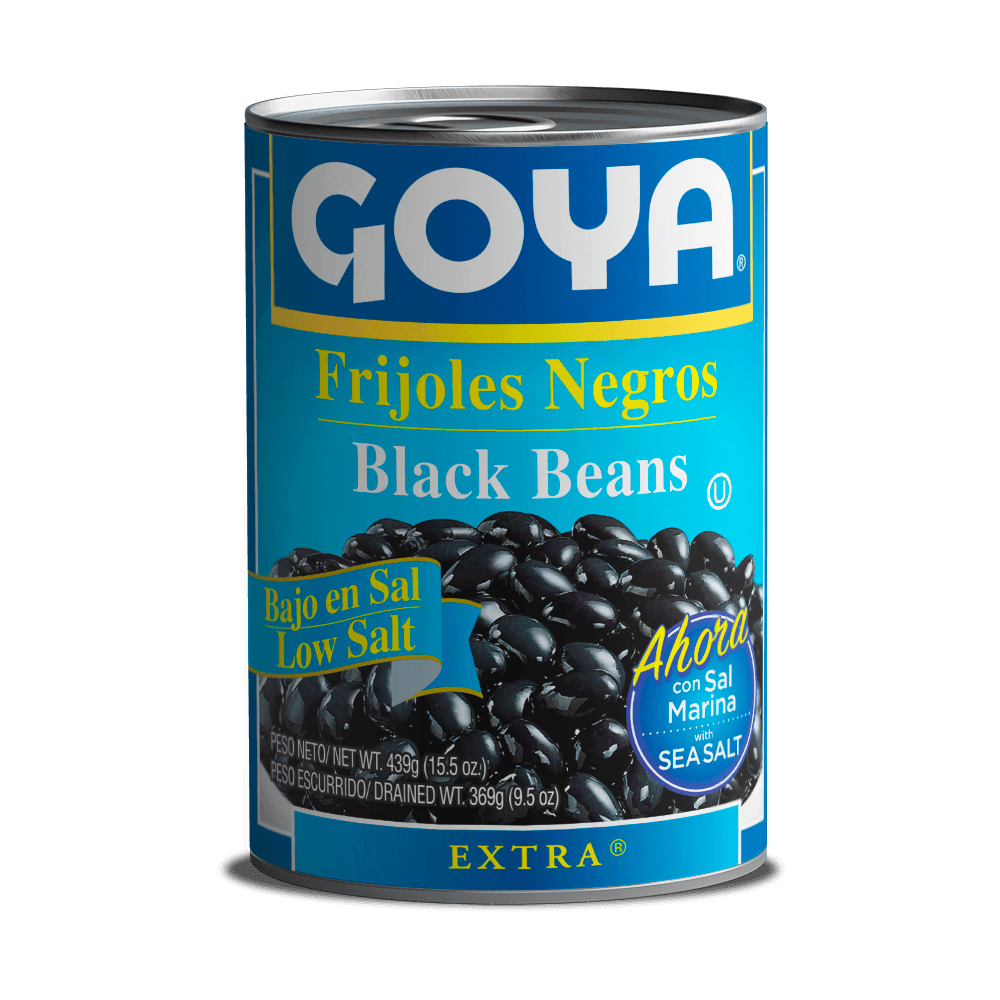 Frijoles negros bajo sal