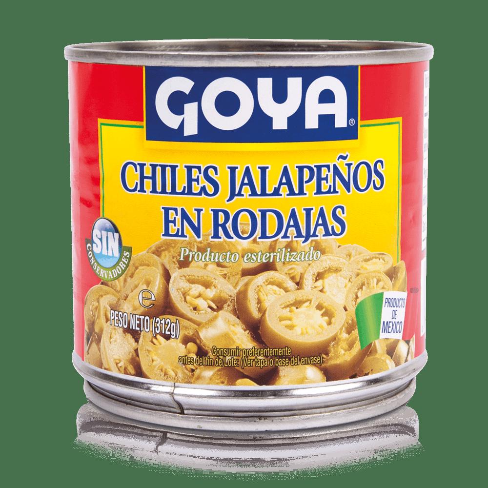 Chiles jalapeños en rodajas