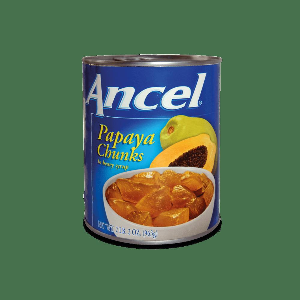 Trozos papaya ancel