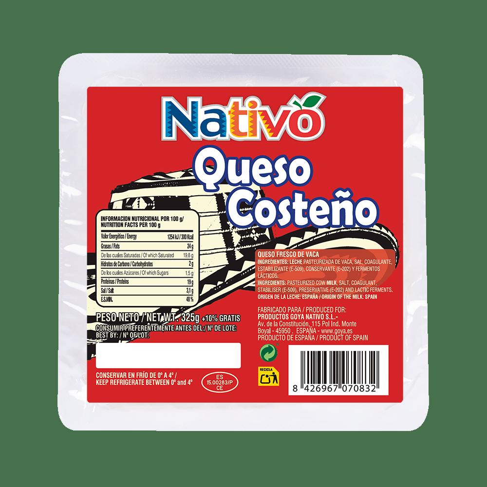 queso costeño nativo